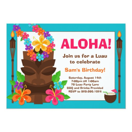 hawaiian party invites free