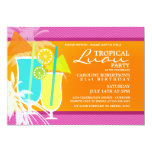 Tropical Luau Party Invitations