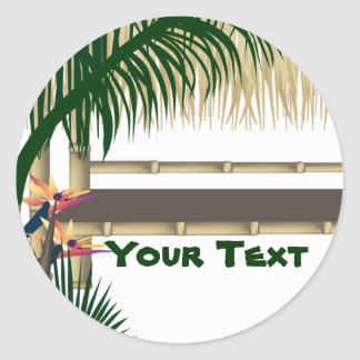 Tropical Luau Party Tiki Hut Sticker 2