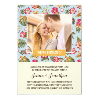 Tropical Luau | Photo Engagement Party Card