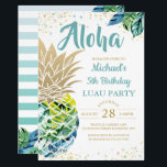 "Tropical Luau Pineapple Beach Birthday Invitation<br><div class=""desc"">Tropical Luau Pineapple Beach Birthday Invitation</div>"