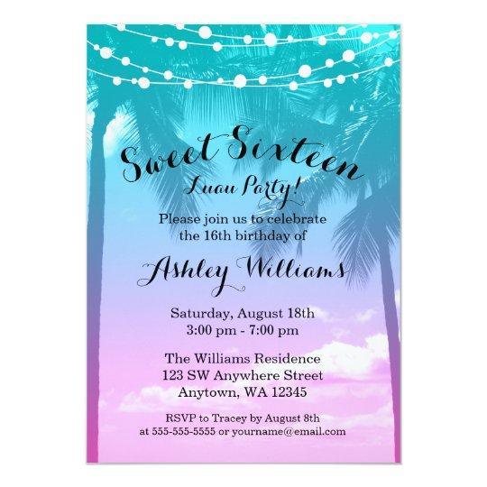 Sweet 16 Invitations – 16 Birthday Invitations