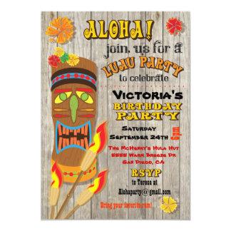 "Tropical Luau Tiki Party Invitations 5"" X 7"" Invitation Card"