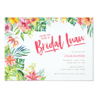 Hawaiian Bridal Shower Invitations & Announcements | Zazzle