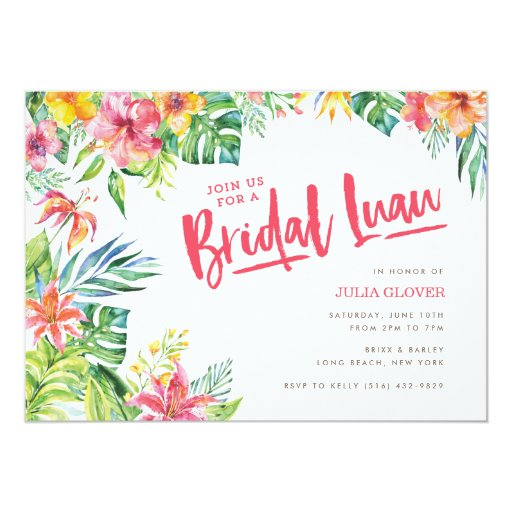 Tropical Invitations for best invitation design