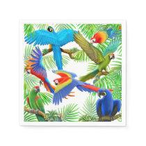 Tropical Macaw Parrot Jungle Paper Napkins
