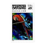 Tropical Macaw Postage Stamp