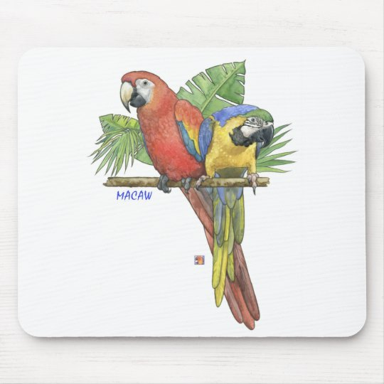 Tropical Macaws Mouse Pad