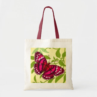 Tropical Magenta Pink Butterfly Tote Tote Bags
