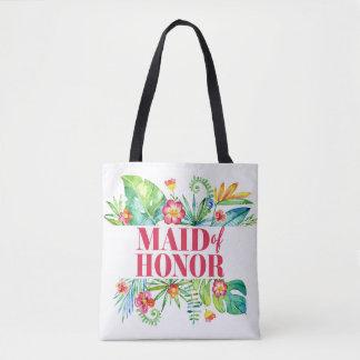 Tropical | Maid of Honor Destination Wedding Tote Bag
