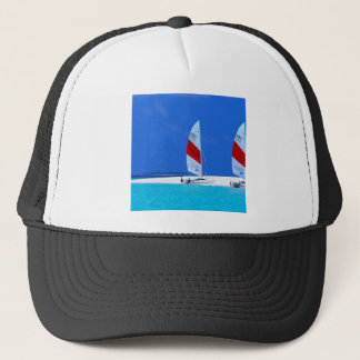 Tropical Maldives Boating Heaven Trucker Hat