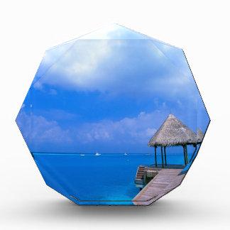 Tropical Maldives Hotel Views Acrylic Award