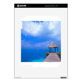 Tropical Maldives Hotel Views Decals For The iPad 2