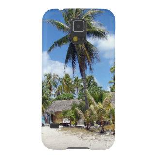 Tropical Maldives Palm Grove Shacks Galaxy S5 Cover