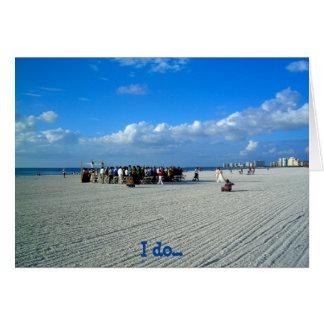 Tropical Marco Island Florida - A Beach Wedding Card