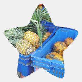 tropical market star sticker