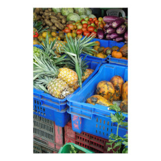tropical market stationery