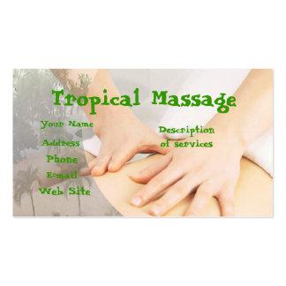 Tropical Massage Business Card