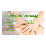Tropical Massage Business Card Templates