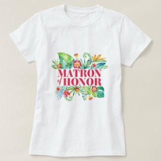 Tropical | Matron of Honor Destination Wedding T-Shirt