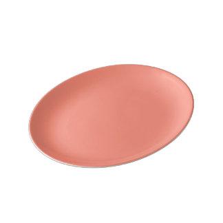 Tropical Melon-Colored Porcelain Plates