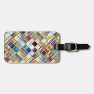 Tropical Memories Mosaic Tile Art Tag For Luggage