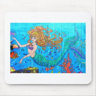 tropical mermaid mousepad