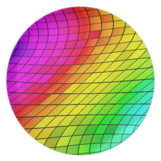Tropical Mix Color's,Mosaic Ceramic Plate