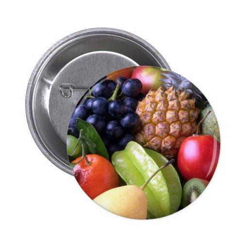 Tropical mix fruits button