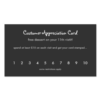 Tropical & Modern Customer Appreciation Card Double-Sided Standard Business Cards (Pack Of 100)