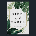 """Tropical Monstera Gifts and Cards Sign<br><div class=""""desc"""">Help your guests easily find the gift table with this lovely sign!</div>"""