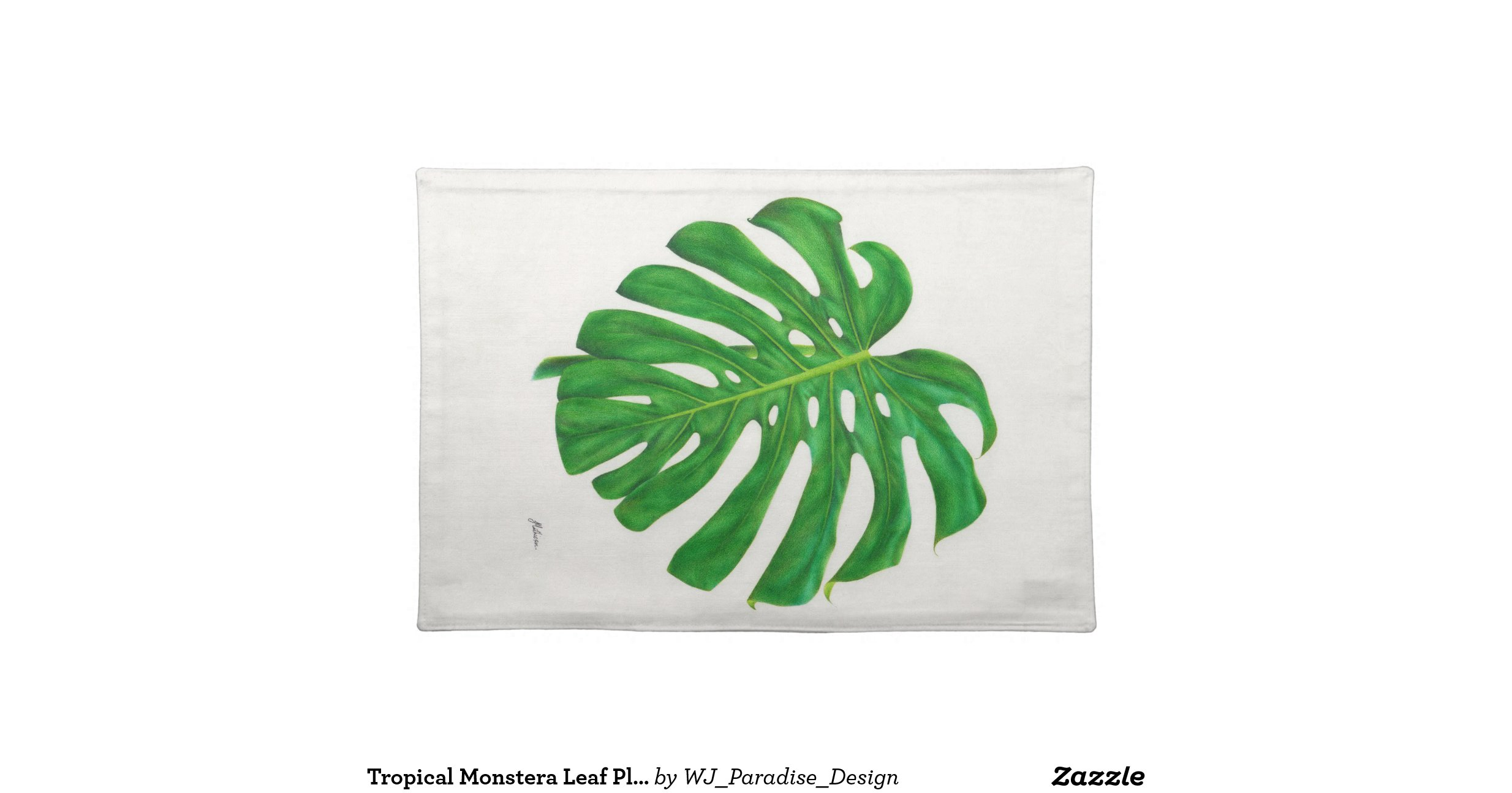 Tropicalmonsteraleafplacematclothplacemat