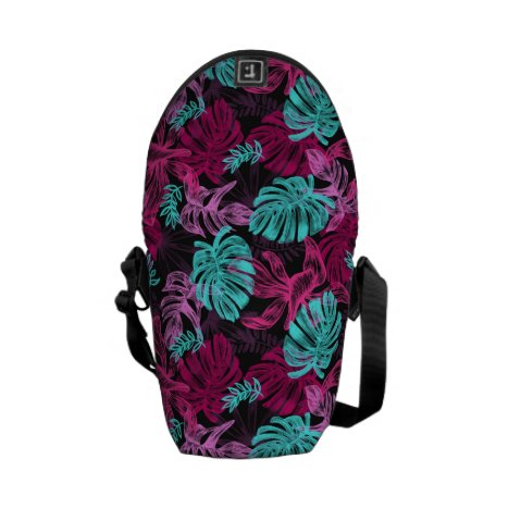 Tropical Monstera leaves Courier Bag