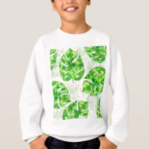Tropical Monstera Leaves Unique Pattern Sweatshirt