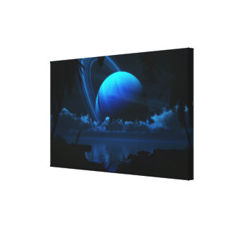 Tropical Moon Gallery Wrapped Canvas