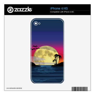 Tropical Moon Skins For iPhone 4