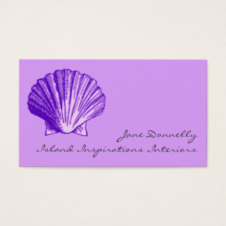 Tropical Moonlight Purple Sea Shell Business Cards