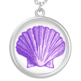 Tropical Moonlight Purple Sea Shell Necklace