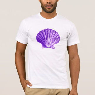 Tropical Moonlight Purple Shell T-Shirt
