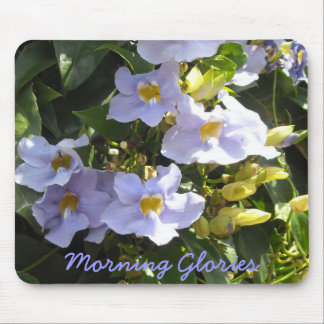 Tropical Morning Glories Mouse Pad