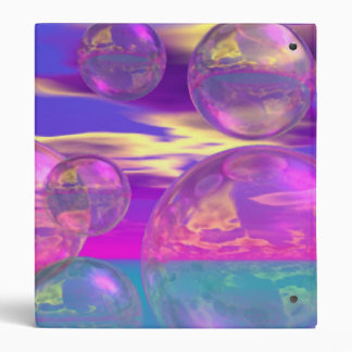 Tropical Morning – Magenta and Turquoise Paradise 3 Ring Binder