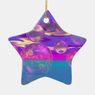 Tropical Morning – Magenta and Turquoise Paradise Ceramic Ornament