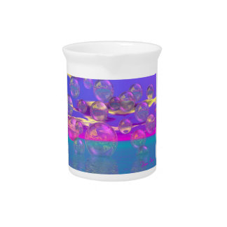 Tropical Morning – Magenta and Turquoise Paradise Drink Pitcher