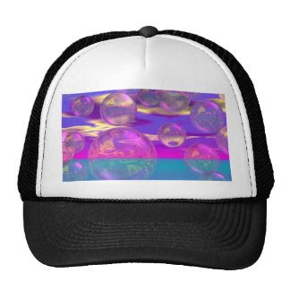 Tropical Morning – Magenta and Turquoise Paradise Trucker Hats