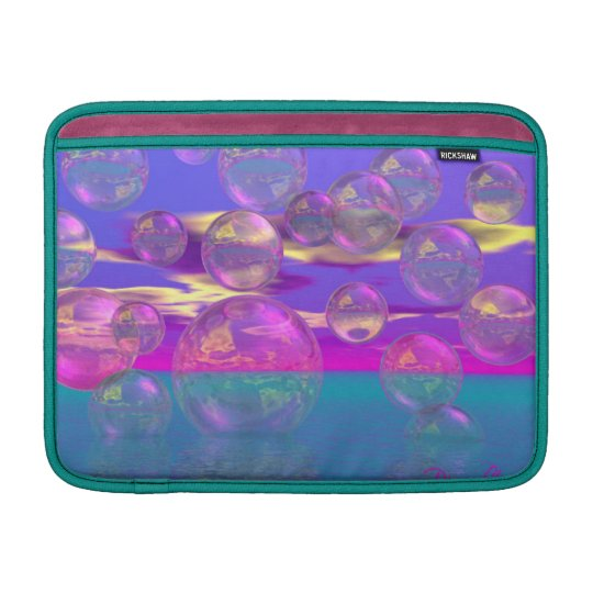 Tropical Morning – Magenta and Turquoise Paradise MacBook Sleeve