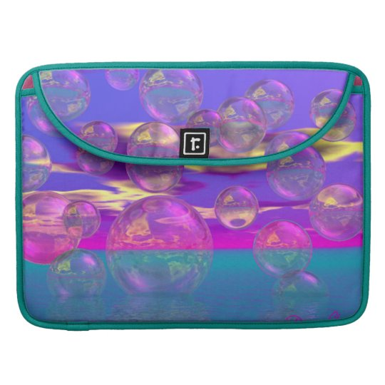 Tropical Morning – Magenta and Turquoise Paradise Sleeve For MacBook Pro
