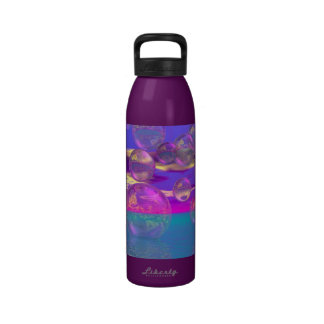 Tropical Morning – Magenta and Turquoise Paradise Water Bottle
