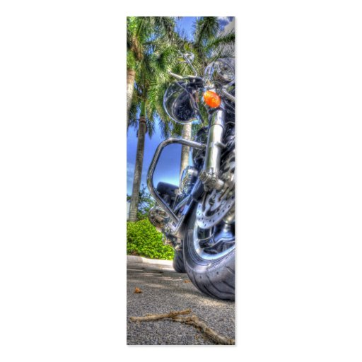 Tropical Motorcycle Bookmark Business Card Templates
