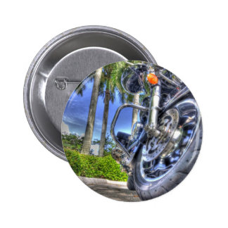 Tropical Motorcycle Pinback Button