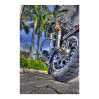 Tropical Motorcycle Poster